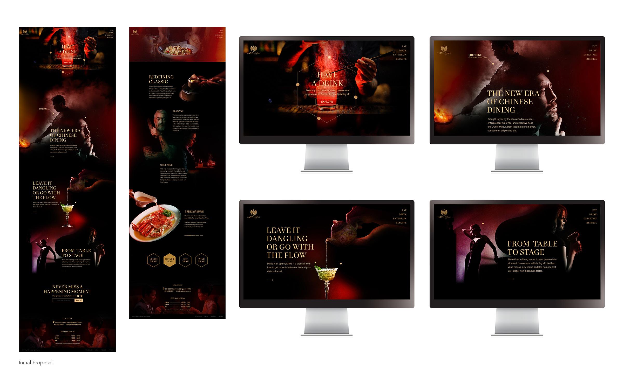 Madame Fan Website Desktop Mockup