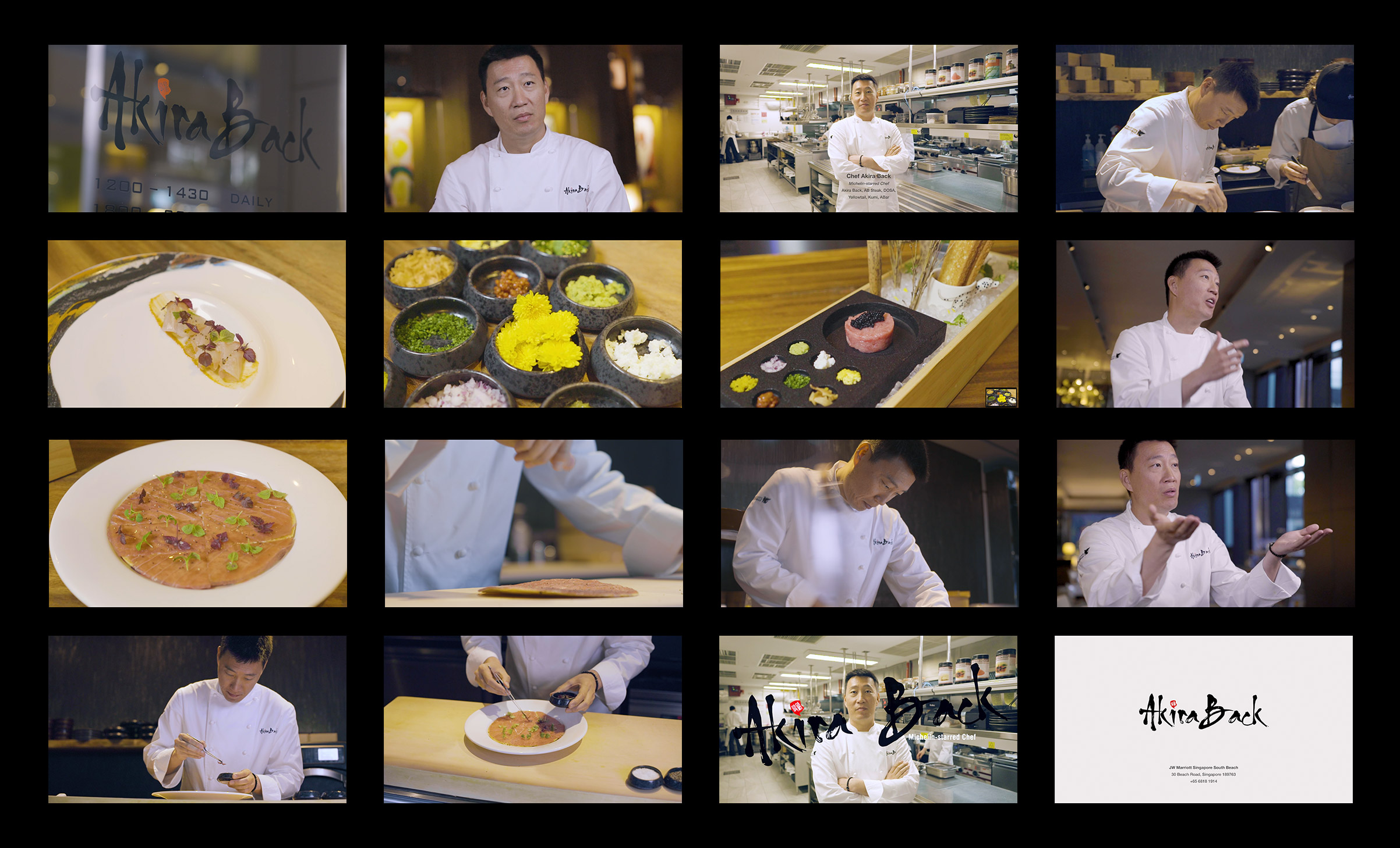 Michelin Starred Chef Akira Back video portrait